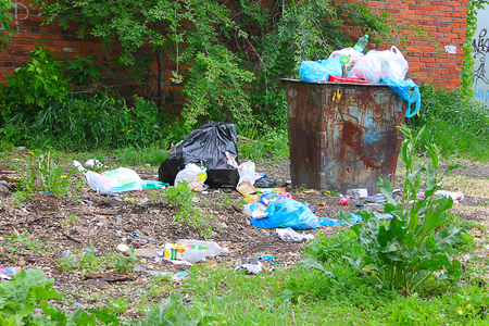 pollute: Photo which shows how people pollute the environment.