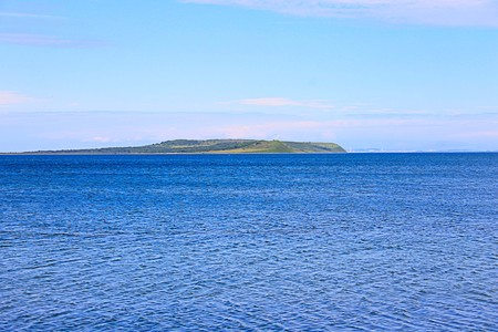 Photo which shows the sea and islands. Stock Photo