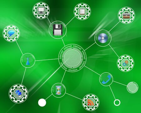 internet search: Many abstract images on the theme of computers, Internet and high technology.
