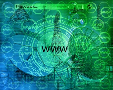 Viele abstrakte Bilder zum Thema Computer, Internet und High-Tech.