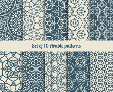 アラビア語のパターンのセットです。抽象的なテクスチャと背景を壁紙します。