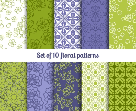 vernal: High-quality floral wallpaper patterns for backgrounds and invitations Illustration