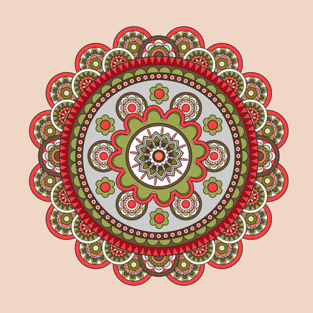 shankar: Vector mandala, circular colored pattern for decoration Illustration