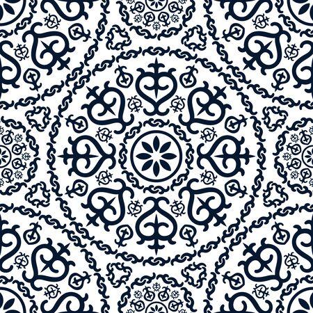 eleg�ncia: Teste padr�o abstrato da eleg�ncia sem emenda com fundo floral