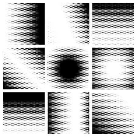 Mezzitoni modello impostare sfondi. Illustrazione vettoriale