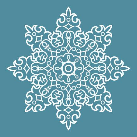 motive: Round Ornament Arabesque Pattern Decorative Blue Element