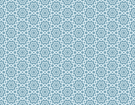 antiquity: Arabic Abstract Seamless Ornament, blue line vector background