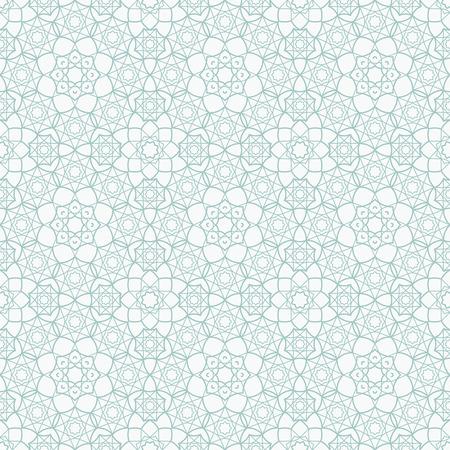 Achtergrond met Islamitisch Naadloos Patroon. vector illustratie