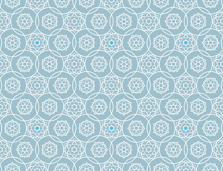 continued: Background with islamic stars seamless pattern. Vector illustration