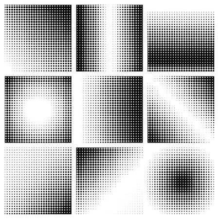 Punti mezzatinta su sfondo bianco. Illustrazione vettoriale Vettoriali