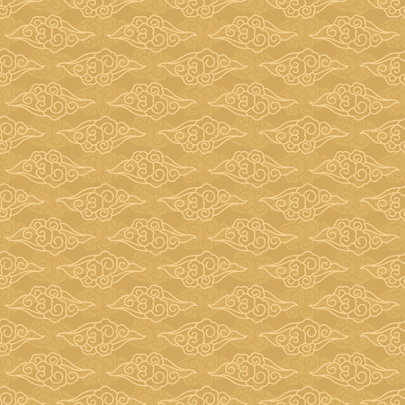 Chinese clouds seamless pattern traditional vector background