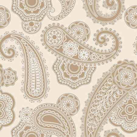 duotone: Seamless lacy pattern paisley background with traditional asian elements