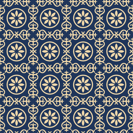 simple background: Bicolor vintage vector simple pattern decor background