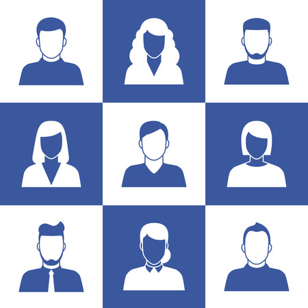unknown gender: People profile silhouettes or social media avatar icons