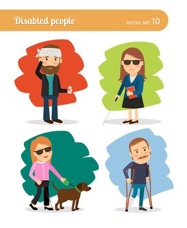 enfermos: Los enfermos y personas de movilidad Vectores
