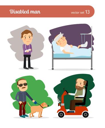 personas discapacitadas: Persona discapacitada Vectores