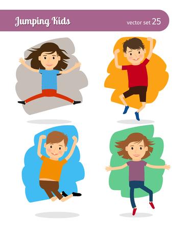 jump: Jumping Kids Characters Illustration