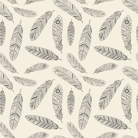 old wallpaper: Hand-drawn feather texture