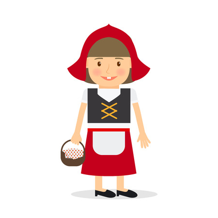 little red riding hood: Little red riding hood. Girl costume for kids party or holiday. Vector illustration. Illustration