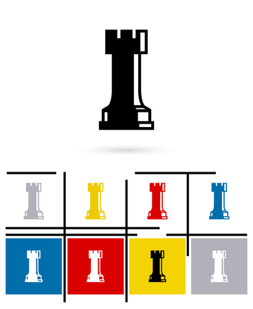 chess rook: Chess rook icon or chess rook sign. Vector chess rook pictogram or chess rook symbol