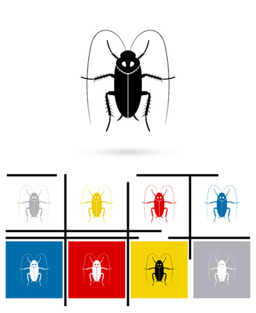 disgusting animal: Cockroach icon or cockroach sign. Vector cockroach pictogram or cockroach symbol