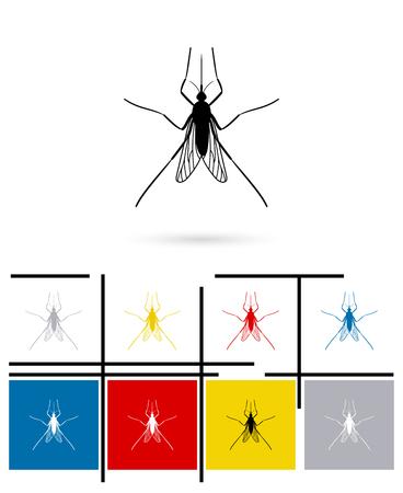 mosquitoe: Mosquito icon or mosquito sign. Vector mosquito pictogram or mosquito symbol Illustration