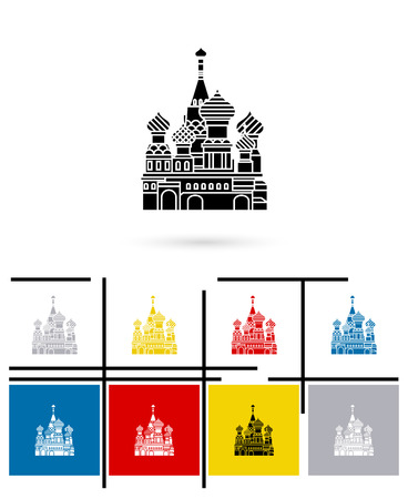 st  basil: St Basil Cathedral icon or st Basil Cathedral sign. Vector st Basil Cathedral pictogram or st Basil Cathedral symbol Illustration