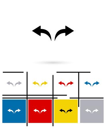 undo: Undo and redo arrows icons or arrows  signs. Vector undo and redo arrows pictograms or arrows  symbols