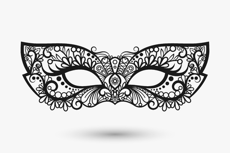 lace mask. Mardi Gras mask icon. llustration