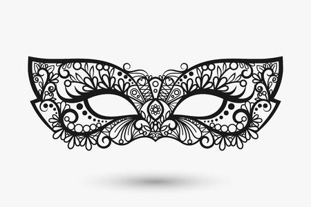 lace mask. Mardi Gras mask icon. llustration