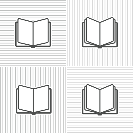 stripped background: Book icons on stripped background for education and traning Illustration