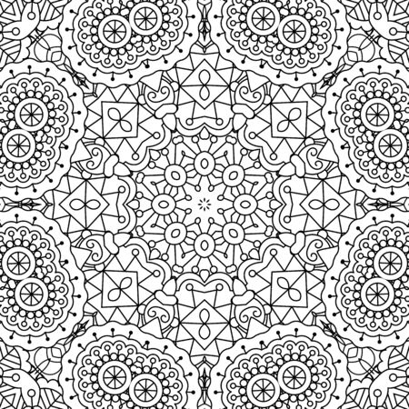 full frame: Pretty intricate full frame background on white composed of geometric patterns and beautiful symmetrical elements
