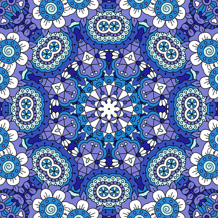 full frame: Full frame background of lovely floral patterns and other pretty geometric designs