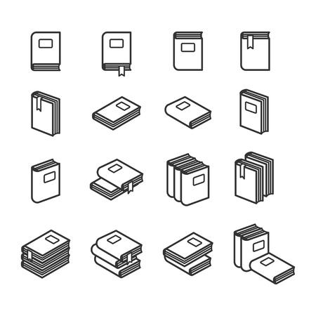uploading: Office folders icons set in black and white. Vector illustration
