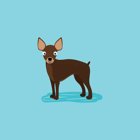 pointy ears: Vector cartoon dog for card design. Vector illustration Illustration