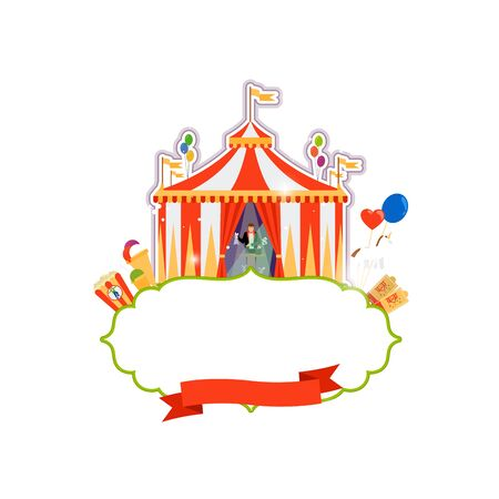 Vintage circus isolated element on white background. Vector illustration