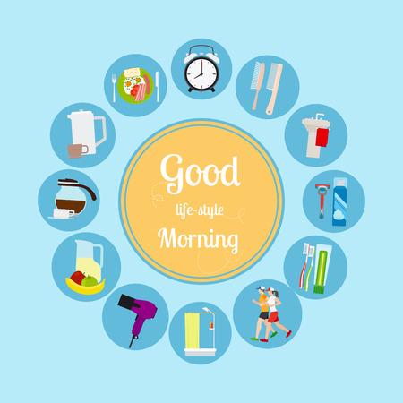new day: Good morning new day background. Vector illustrationa Illustration