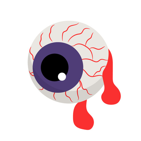 Vector zombie bloody eye for halloween decoration