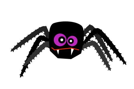 halloween spider vector creepy crawlies isolated web silhouette venom Illustration
