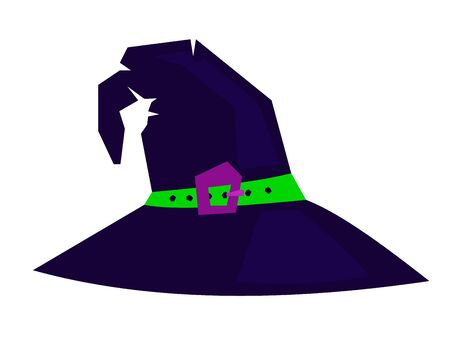 Witch hat vector isolated on white background Illustration