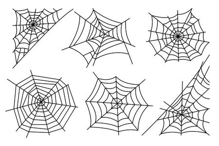 Halloween spinnenweb op een witte achtergrond. Hector gif spinneweb in te stellen. vector illustratie