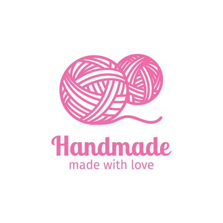 Handmade thin line icon. Made with love. Vector illustration