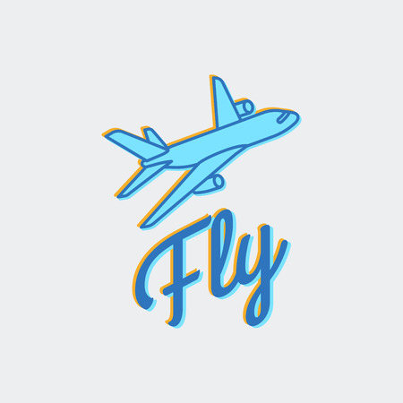 Travel or airplane icon Illustration