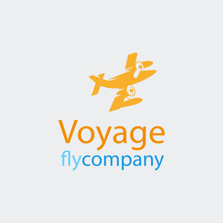 Travel or airplane icon. Vector illustration