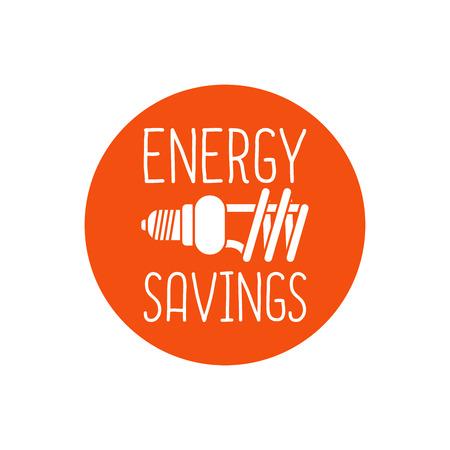 energy savings: Energy savings vector  design, white and orange colors Illustration