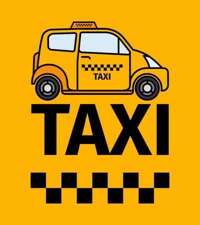 London cab taxi transport, advertising poster, vector illustration