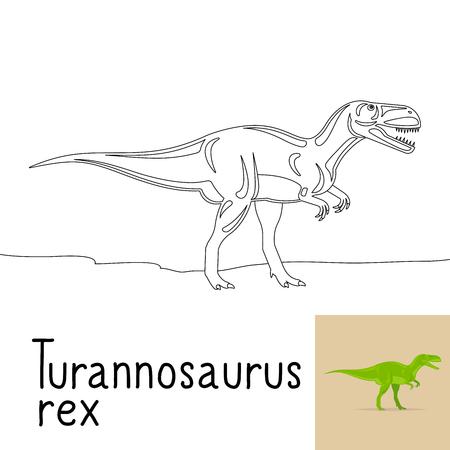 Dibujo Para Colorear Para Los Niños Con Spinosaurus Dinosaurio Y ...