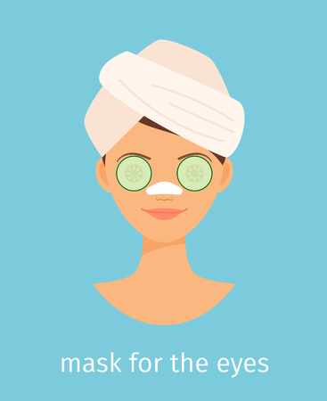 Mask for the eyes and logotype vector illustration