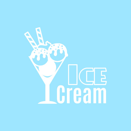 Ice cream vintage   template for cafe and restaurant vector illustration Illustration