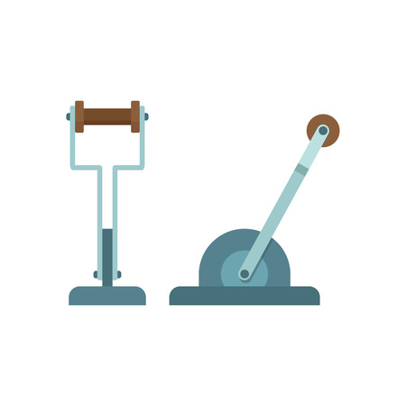 lever: Mechanical lever, flat vector icon, machine part on white background Stock Photo
